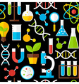 Black Seamless Pattern Science Education vector image