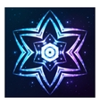 Blue shining cosmic abstract snowflake vector image vector image