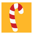 candy cane on white background vector image vector image