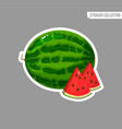 cartoon fresh watermelon isolated sticker vector image