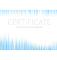 Certificate - blue halftone background vector image