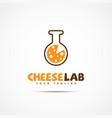 cheese lab logo vector image