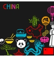 China background design Chinese symbols and vector image vector image