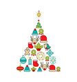 christmas and happy new year icons set vector image vector image
