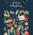 christmas and happy new year trendy vector image vector image