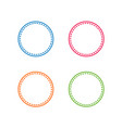 colorful stitched circle shape vector image vector image