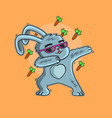 cute bunny easter love carrot vector image