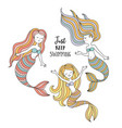 cute little mermaids under the sea vector image
