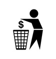Do not waste money icon vector image