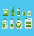 eco friendly cleaning products vector image