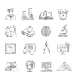 Education Icons Sketch Set vector image