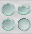 empty glass petri dish biology lab dishes vector image vector image