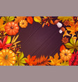fall poster template vector image vector image