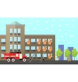 Fire fighting department banner Station vector image vector image