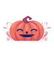 flat spooky pumpkin with smiling face jack vector image vector image