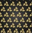 floral fine seamless golden pattern vector image vector image