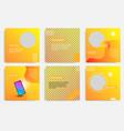 Fluid wave social media in orange layout template