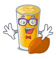 geek lassi mango in a cartoon bottle vector image vector image