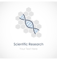 Genetic research vector image
