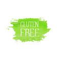 gluten free food concept logo design template vector image vector image