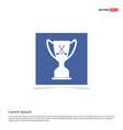 golf champion icon - blue photo frame vector image