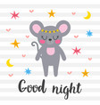 good night inspirational quote hand drawn vector image vector image