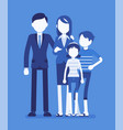 happy family portrait vector image vector image