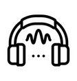 headphone sound icon outline vector image vector image