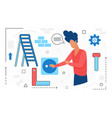 house repair service abstract concept repairman vector image vector image