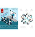 isometric business education composition vector image