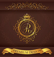 Letter R Luxury Logo template flourishes vector image