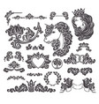 medieval decorative wedding set vector image vector image