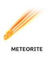 meteorite icon realistic style vector image