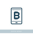 mobile bitcoin business app icon vector image vector image