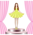 Model on stage vector | Price: 3 Credits (USD $3)