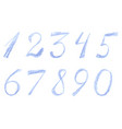 Numbers drawn by colored pencils vector image