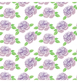 Pattern of purple flowers roses vector image vector image