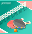 ping pong isometric background vector image