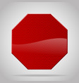red reflective warning octagon sign vector image
