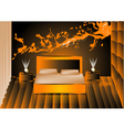 render night bedroom vector image vector image
