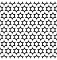 Repeat black and white star pattern vector image vector image