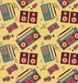retro music pattern vector image