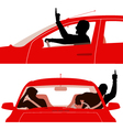 Road rage vector image