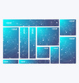 scientific standard size banners geometric vector image vector image