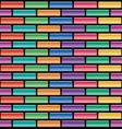 seamless pattern colorful brick wall vector image vector image