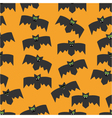 seamless pattern of bats vector image