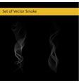 Set of cigarette smoke vector image vector image