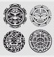 set of tribal masks vector image
