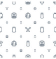 shirt icons pattern seamless white background vector image vector image
