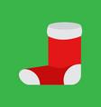 simple cartoon christmas sock vector image